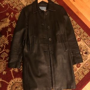 Woman's Nine West black leather coat